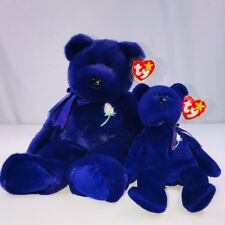2 Retired Ty Princess Diana Beanie Baby Rare Gift Bear Collectibles 1997 & 1998