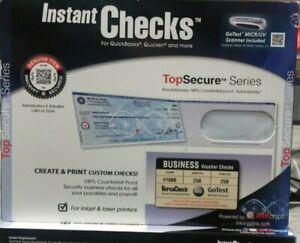 VersaCheck Instant Checks TopSecure Bundle - Form 1000 - Blue Elite - 250 sheets
