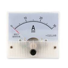 DC 30A Analog Ammeter Panel AMP Current Meter 0-30A DC Doesn't Need Shunt LS
