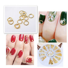 12Kind Alloy Jewelry Nail Art 3D Metal Nail Art DIY Decoration Stickers Glitter