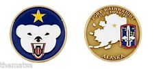 ARMY FORT WAINWRIGHT POLAR BEAR 172ND INFANTRY  MILITARY  CHALLENGE COIN