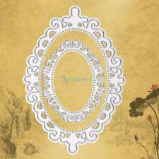 Metal Oval Template Lace Cutting Dies Stencils DIY Scrapbooking Album Paper Card