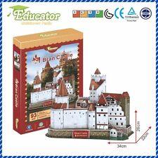 New Model 3D Puzzle with Romania buliding Bran Castle model