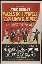 MARILYN MONROE - 1954 - THEIR'S NO BUSINESS LIKE SHOW BUSINESS- 12X18 IN POSTER
