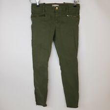 Banana Republic Women's Green Khakis Ankle Zip Casual Pants Ladies Jeans Size 27
