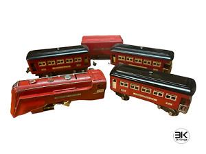 Lionel 264E RED Commodore Vanderbilt Steam Engine Tender Pullman Cars 603 604