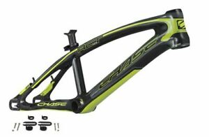 """Chase Act 1.0 Carbon Fiber 20"""" BMX Racing Frame and Seat post 21""""TT blk/yel"""