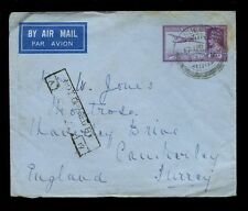 INDIA KG6 1941 AIRMAIL STATIONERY ENVELOPE 14A NOT OPENED by CENSOR BOXED