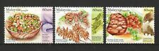 MALAYSIA 2019 EXOTIC FOOD CUISINES COMP. SET OF 3 STAMPS IN MINT MNH UNUSED