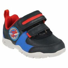 Leather Athletic Shoes for Boys with Lights