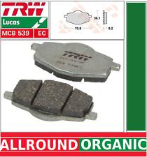 2 Plaquettes frein Avant Organic TRW MCB539EC Yamaha DT 80 LC2 53V, 4ED1 85-97