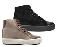IGI & CO 21556 scarpe donna sneakers alte zeppa pelle camoscio tessuto lacci zip