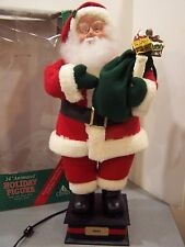 "Christmas Motionette Animated vintage santa claus 25"" tall moving decor noel box"