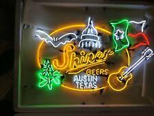 "Shiner Beers Austin Texas Neon Sign Display Beer Bar Pub Neon Light 30""X26"""