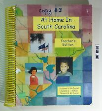 At Home In South Carolina By McDaniel 2000 Teacher's Edition TEXTBOOK LOT H138