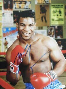 Mike Tyson Boxing Champion Signed 11x14 Matte Photo JSA Authenticated