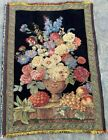 16205 Vintage French Pictorial Tapestry Authentic Wall Hanging Home Decor 2x3 ft