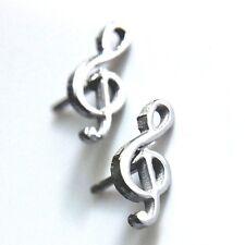 Violinschlüssel Ohrstecker Edelstahl Ohrringe Musik Notenschlüssel clef earrings