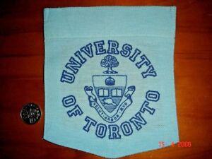 CANADA, 1985 University Emblem on T-Shirt Pocket, Cotton Cloth