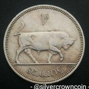 Ireland Eire 1 Shilling 1968. KM#14a. One Dollar coin. Harp. Bull. Animals.