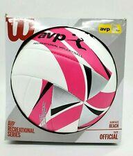 NEW Wilson Pro Beach Volleyball Pink White AVP Recreational Series Ball  Women's