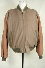 Members Only Green Brown Leather Basic Jacket Men's Size: XL
