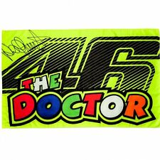 VR-46 THE DOCTOR NEW 2017 MULTICOLOR FLAG BANDIERA YELLOW GIALLO VALENTINO ROSSI