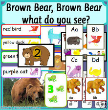 BROWN BEAR WHAT DO YOU SEE story teaching resource sack Teacher resources EYFS