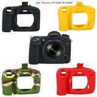 Silicone Soft Armor Skin Case Bag Camera Cover Protector For Nikon D7100 D7200