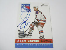 2000-01 Topps Heritage Adam Graves Autographed New York Rangers Hockey Card