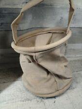 vintage Canvas Fold Down Bucket Linemans Tool bag Parts Bucket ARMEE I.T Paris