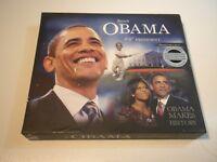 BARACK OBAMA 44TH PRESIDENT COLLECTORS VAULT BOOK & 62 PCS MEMORABILIA