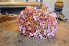 Pretty Vintage Pink Faux Silk Hydrangea, Realistic Artificial Flowers
