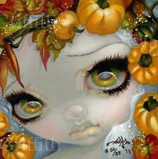 Faces of Faery 213 Jasmine Becket-Griffith art CANVAS PRINT pumpkin Halloween