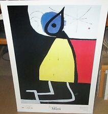 "JOAN MIRO ""DONA EN LA NIT 1973"" HUGE COLOR POSTER"