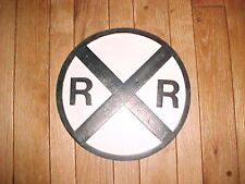 "(AA) Unptd.24"" Dia. Replica of Vintage Antique 24"" Old Railroad Crossing Sign"