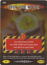 """Doctor Who Battles In Time Invader - Rare """"Open Fob Watch"""" Card #550"""