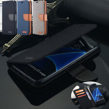 Samsung Galaxy S7 Edge S6 Edge Slim Flip Leather Wallet Card Magnetic Case Cover