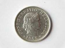 Switzerland 20 Rappen Coin 1965, miedzionikiel /copper-nickel