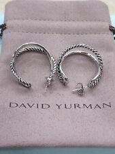 David Yurman Sterling Silver Crossover Hoop Earrings