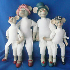 House of Lloyd Christmas City Mouse Millicent Marcus Marky & Millie figures