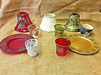 YANKEE CANDLE CHRISTMAS ACCESSORIES- VOTIVE HOLDERS, PLATES AND CANDLE SHADES