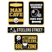 Pittsburgh Steelers Four Pack Fan Sign Set