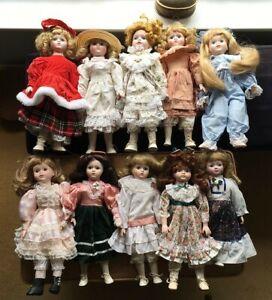 Heritage Mint Ltd Collection porcelain dolls job lot