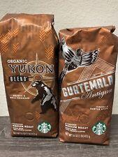 2 Pounds Starbucks Whole Bean Coffee (2) Bags Guatemala And Orgnanic Yukon