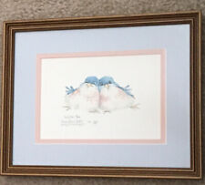 """Cuddled Pair"" Carolyn Shores Wright Signed Framed Print Birds 1634/1950"