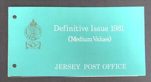 Jersey 1981 definitive issue medium values Presentation Pack + 16p 17p 18p 19p!