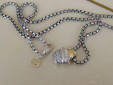 $1050 DAVID YURMAN 18K, SILVER ACORN DIAMOND NECKLACE