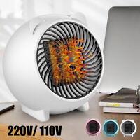 Mini Electric Fan Heater Portable Desktop 500W Fast Warmer Blower Home Office