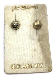 14kt Gold Post Elgee Earrings 9mm